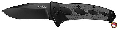 KERSHAW Tactical Black IDENTITY Assisted Straight Folding Pocket Knife New 1995