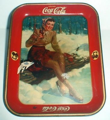 ORIGINAL 1941 COCA COLA SERVING TRAY - Made in U.S.A. by The American Art Works