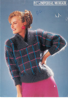 Vintage Knitting Pattern Peter Cussons 0004 Lady's Criss Cross Mohair 32-38""