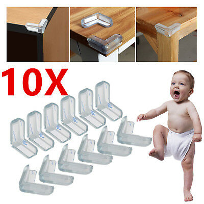 New 10Pc Clear Table Desk Corner Edge Guard Cushion Baby Safety Bumper Protector
