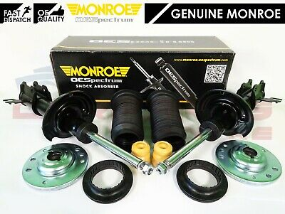 For Saab 93 9-3 Front Monroe Shock Absorbers Top Mounts Bearings Kit Dust Boot