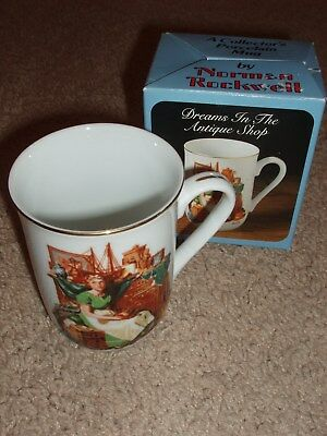"1985 Porcelain Collector's Mug by Norman Rockwell ""Dreams in the Antique Shop"""