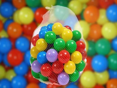 100 pcs Plastic Balls for Ball Pits Children Kids Multi-Coloured Toys Play Pool