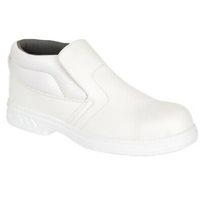 Portwest Steelite Microfibre Slip On Safety Boot Steel Cap Footwear Shoes White
