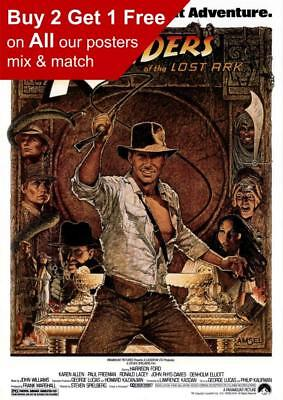 Raiders Of The Lost Ark Classic Movie Poster A5 A4 A3 A2 A1
