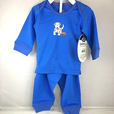 Halo Comfort Luxe baby boy pajama set size 3-6 6-9 12 months fleece NWT blue dog