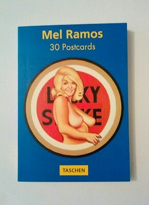 30 cartes postales détachable Mel Ramos postcardbook Pin up nu sexy girl pop art