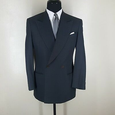 Giorgio Armani Vintage Double Breasted Gray Suit No Vents 40 R-Fit 42 Reg