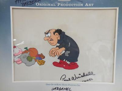 HANNA BARBERA Gargamel Hand Painted Cel Signed by Paul Winchell