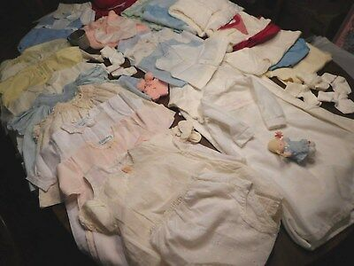 Vintage Lot of Baby Infant CLOTHING or DOLL CLOTHING - Estate Find