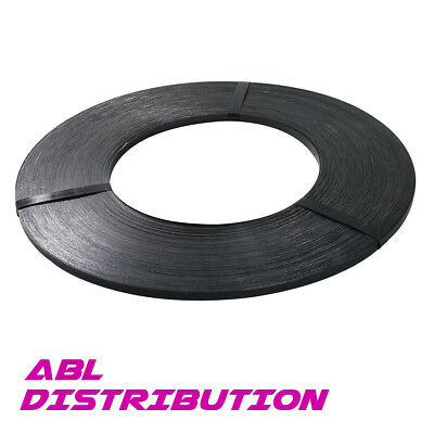 19mm x 214m Black Heavy Band Steel Strap 880kg load Strapping Packing 16kg Roll