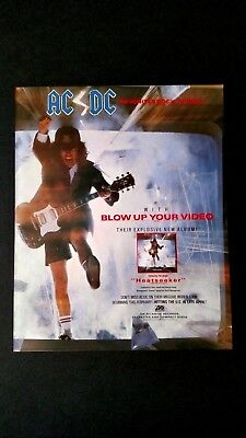 "Ac/dc ""blow Up Your Video""  ""heatseeker"" Rare Original Print Promo Poster Ad"