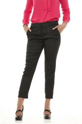 Manila Grace S08698 women's trousers chino ankle in micro polka dot