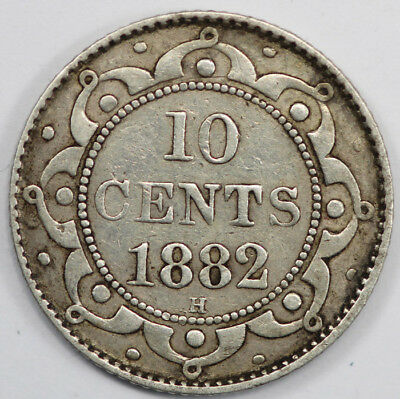 Canada - Newfoundland 1882 H 10 Cent, good Very Fine