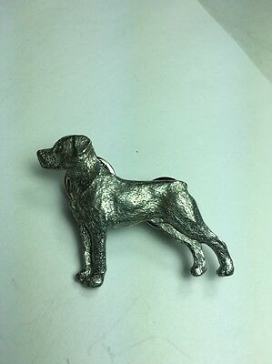 Rottweiler Dog Pin Made Of Fine Pewter