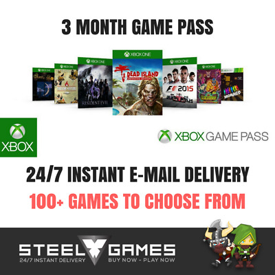 Xbox One Game Pass 3 Three Month Subscription (24/7 Instant Dispatch) 100+ Games