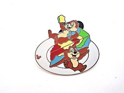 Disney Pin Cast Lanyard Series Chip & Dale w/ Food - Tie Dyed Cheesecake [43372]