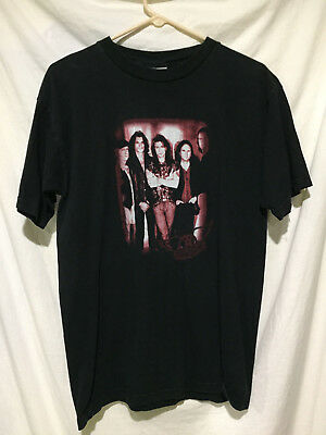 Vintage AEROSMITH Black T-Shirt Large Concert Tee Very Good Condition