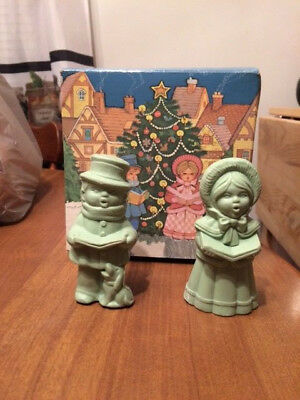 Vintage Avon Christmas Carollers Two  Special Occasion Soap Set - 3 OZ. Each