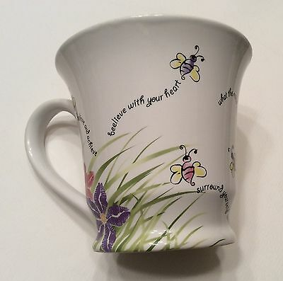 Mary Kay Beelieve In Yourself Ceramic Coffee Mug Cup Bees Motivational