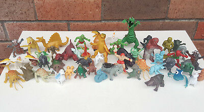 DFC, Monsters, Beasts, Chinasaur, Jiggler - Vintage RARE Toy Lot of 50 Figures