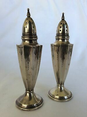 Antique ca 1930's William R. Elfers Sterling Silver Salt & Pepper Shakers