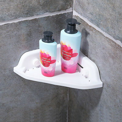 Bathroom Corner Shower Caddy Rack Organiser Shelf Holder Triangular Wall Mount