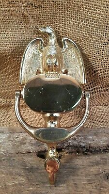 """Vintage Brass Door Knocker with Eagle By EB 8 """" w hardware"""