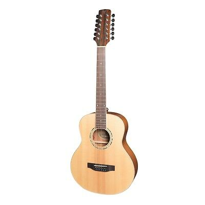 NEW Timberidge 12-String Mini Travel Solid Spruce Top Acoustic-Electric Guitar