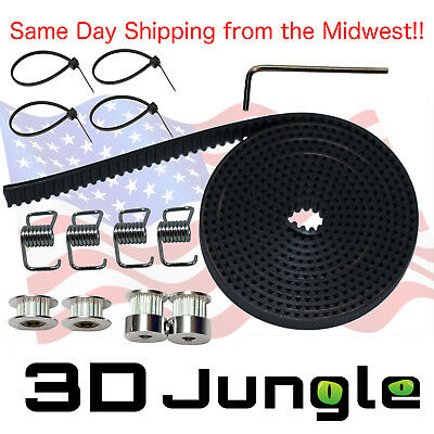 GT2 Timing Belt Kit for 3D Printer - Incl. Pulleys, Idlers, Tensioners, & Wrench