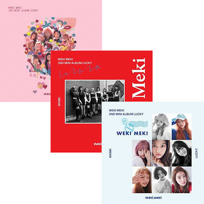 WEKI MEKI [LUCKY] 2nd Mini Album CD+POSTER+Photo Book+Card+Sticker K-POP SEALED