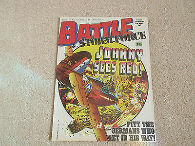 BATTLE with STORM FORCE Comic - Date 22nd August 1987- UK Paper Comic