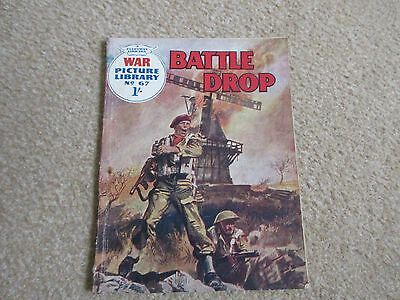 War Picture Library comic No 67,' Battle Drop' 1960-GC/ Commando