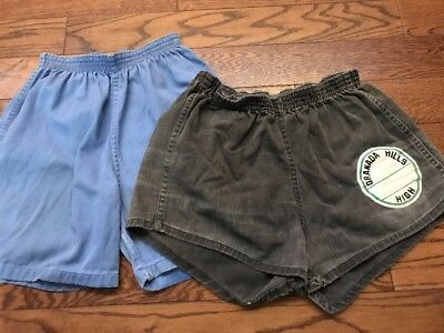 Two Vintage 50's 60's Gym Shorts - Small