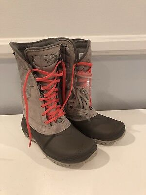 f393bb852 THE NORTH FACE Thermoball Utility Mid Womens Snow Boot Waterproof Sz 5 Gray