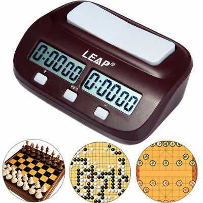 LEAP Digital Chess Clock Count Up Down Timer Electronic Board Game Competition