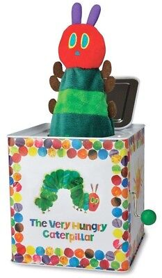NEW Eric Carle Very Hungry Caterpillar Jack in a Box Musical Toy *FREE SHIPPING*