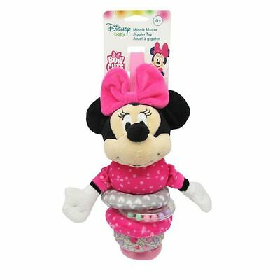 NEW Disney Baby Minnie Mouse Cute Bow Jiggler Rattle *FREE EXPRESS SHIPPING*