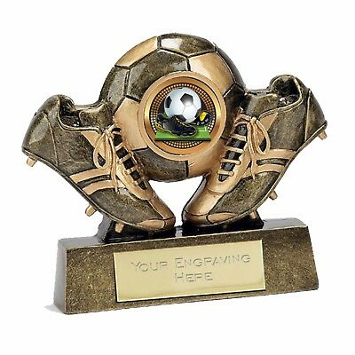 """Micro Boot & Ball Football Trophy Man of the Match """" FREE ENGRAVING"""""""