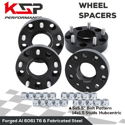 """4x 1.5"""" Wheel Spacers 5x5.5 to 139.7 M14X1.5 Hubcentric 77.8mm CB Ram 1500 12-16"""