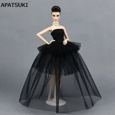 """High Quality Little Black Dress For 11.5"""" Doll Clothes Multi-layer Evening Gown"""