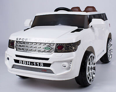 Kids Ride On Car Range Rover Sport Coupe Electric Toys Battery Remote White 12V
