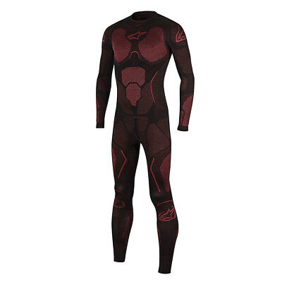 Alpinestars Ride Tech Black / Red Motorcycle Summer Base Layer Suit | All Sizes