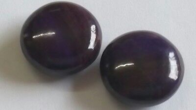 SUGILITH BOUTONS PAAR, 21,5mm rund 78ct.