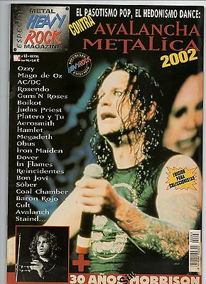 HEAVY ROCK SPECIAL 63 spain - AVALANCHA METALICA 2002 OZZY JUDAS PRIEST BON JOVI