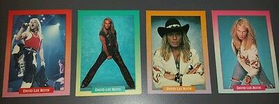 Brockum Rockcards - David Lee Roth - Set of 4 Rare! 1991 trading cards Van Halen
