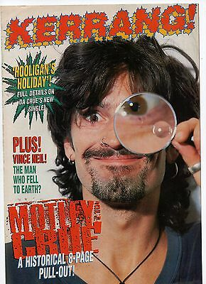 Mötley Crüe - 2 Kerrang mag pull-outs 8 pages each UK - rare - REVISTAS RARAS
