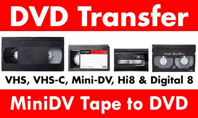 Transfer / Copy Your Mini DV Camcorder Tape' to DVD or MP4 PAL ONLY Fast Service