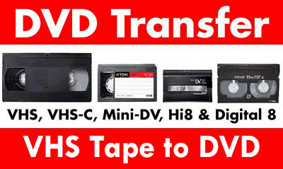 Transfer / Copy Your VHS Video Tape's to DVD or MP4 -  Fast Reliable Service