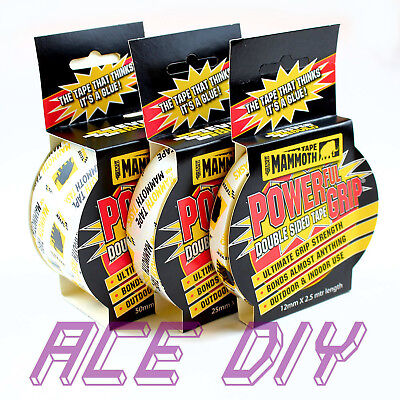Everbuild Mammoth Grip Tape Powerful Double Sided Carpet Sellotape Glue Adhesive